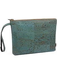 Elegante borsello portafoglio porta soldi in cuoio di sughero alla moda -  Vegano! - Borsello 32ff5a956487