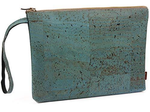 cdabfd38a4 SIMARU Elegante borsello porta soldi in sughero / cuoio di sughero alla  moda, borsello banconote