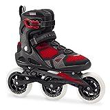 Rollerblade MACROBLADE 110 3WD - Patines en línea (Patines en línea Fitness, Adulto, Masculino, Negro, Rojo, Estampado, Cierre Alto)