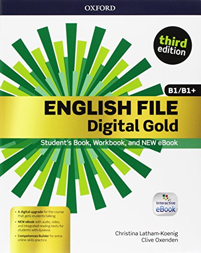 English File Digital Gold B1/B1+ Premium with key. Entry Checker + Student's Book & Workbook + Interactive eBook + Competences Builder Online