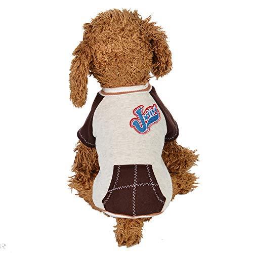 EUZeo Lovely Pet Clothes Welpen Rundhals Shirt Zwei Bein Kleidung Hündchen Haustierpullover Hundebekleidung Cute Hundeshirts Kleiner Hund Briefe gedruckt Sweatshirt Sweater