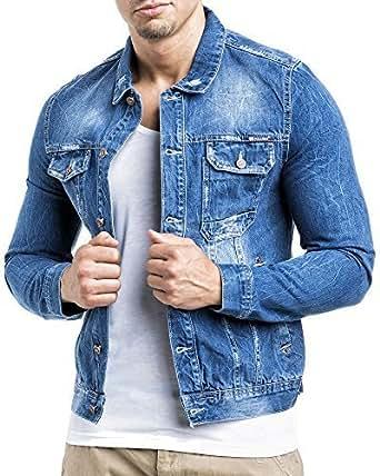 Balandi Denim Herren Jeans Jeansjacke Jacke Denim; Größe XL, Blau
