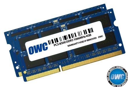 OWC OWC8566DDR3S8GP Memoria ( 2 x 4.0GB PC8500 DDR3 1066MHz 204 Pin )