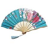 99AMZ Plegable Abanico de Papel y Bambú Madera Colores Rojos Ventilador Plegable Estilo Chino Abanicos de Mano de Estilo Chino Abanicos de bambú ahuecados para la decoración de Bodas (D)