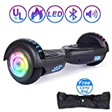 "Sumwell Elektro Self Balance Scooter 6.5"" Hoverboard mit bunten LED Lights, Bluetooth Lautsprecher, 600W Motor UL2272 Certified E-Scooter Elektro Skateboard (Blau)"