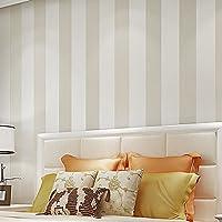 BBSLT Semplice e moderna ampia fascia di tessuto non tessuto vivente stereo in camera da letto TV parete di sfondo sfondo , metri bianco ,