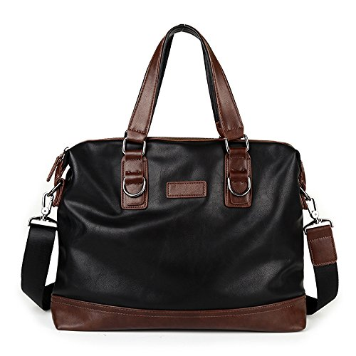 Mefly Neue Männermode Handtasche Geschäftsdokumente All-Match Crossbody-Tasche Black