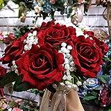 Baipin Brautsträuße Wasserfall Künstliche Hochzeit Blumen Brautsträuße Braut Bouquets