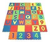 Blackspur Lot de 2 tapis de jeu en mousse souple pour enfants Puzzle lettres/chiffres (Puzzlematte 80 Stück)
