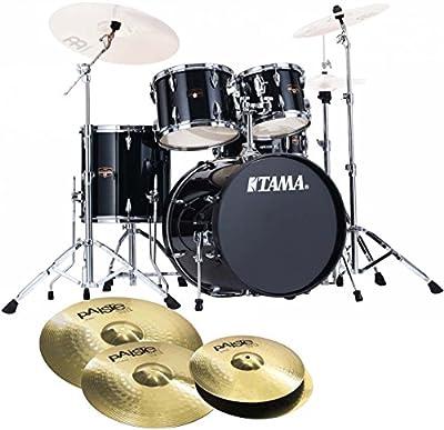 Tama Imperial Star ip50h6de HBK Hair Line Black de batería + Paiste 101–Set de platillos 14hh/16/20