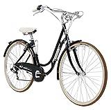 28 Zoll Damen Holland Fahrrad 6 Gang Adriatica Danish, Farbe:schwarz