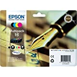 Epson N°16 Cartouche d'Encre d'Origine Durabrite Ultra Multipack - Noir, Cyan, Magenta, Jaune