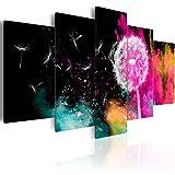 murando - Bilder 225x112 cm - Vlies Leinwandbild - 5 Teilig - Kunstdruck - Modern - Wandbilder XXL - Wanddekoration - Design - Wand Bild - Abstrakt Pusteblume Bunt b-C-0114-b-o
