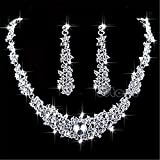 Symphony New Design Bridal Prom Rhinestone Crystal Necklace Jewelry Sets Necklace Earrings Jewelry Wedding