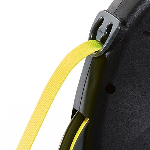 flexi Roll-Leine GIANT L 8 m Gurt für Hunde bis 50 kg, schwarz / neongelb - 4