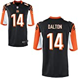 14 Andy Dalton Trikot Cincinnati Bengals Jersey American Football Shirt Mens Black Size XXL(52)