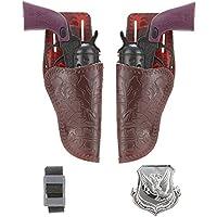 Set 2 Pistole Cowboy per adulti - 6 Kit Completo Del Corpo