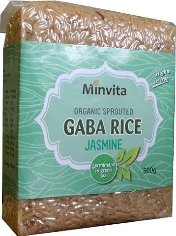 Minvita - Organic Sprouted Gaba Rice - Jasmine-Green - 500g