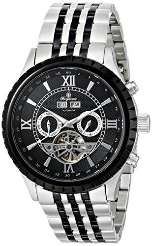 Burgmeister Armbanduhr für Herren mit Analog Anzeige, Automatik-Uhr mit Edelstahl Armband - Wasserdichte Herrenuhr mit zeitlosem, schickem Design - klassische Uhr für Männer - BM327-127 Denver