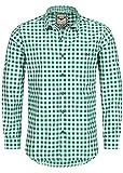 Stockerpoint Trachtenhemd OC-Franzl | kariert | Regular Fit | in Verschiedenen Farben (S, Dunkelgrün)