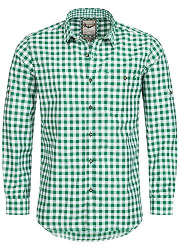 Stockerpoint Trachtenhemd OC-Franzl | kariert | Regular Fit (M, Dunkelgrün)