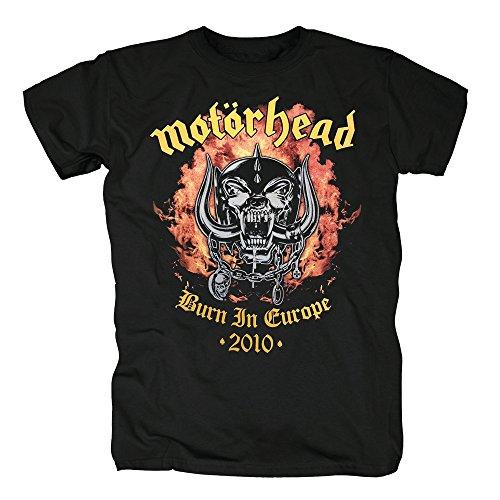 TSP Motörhead - Burn in Europe 2010 T-Shirt Herren S (Moon Nightmare Kostüm)