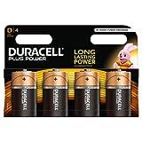 Duracell Plus Power Alkaline Batterien D 4er Pack