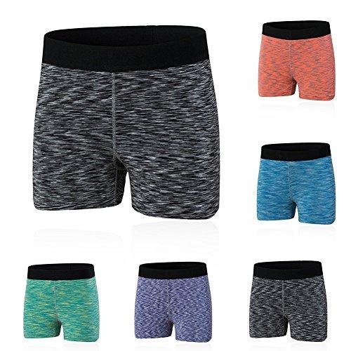 ESHOO Femmes Sous-vêtements de sport Shorts Séchage Rapide Pour Gym Yoga Courts Violet