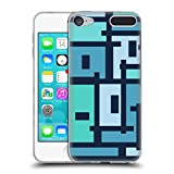 Head Case Designs Offizielle Barruf Uban Blau Muster Soft Gel Hülle für Apple iPod Touch 6G 6th Gen