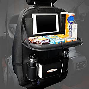 Car Back Seat Organiser, Foldable Car Dining Table with
