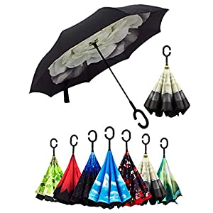 Doble Capa de Paraguas Invertido,