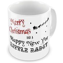 Geordie mug : Merry Christmas And A Happy New Yor Little Radgy Novelty Gift Mug