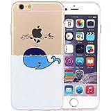 JIAXIUFEN TPU Gel Silicone Protettivo Skin Custodia Protettiva Shell Case Cover Per Apple iPhone 6 6S - Dolphin Spray
