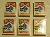 6 Decks Bicycle Playing Cards, Player's Pack, Poker, Standard Faces, Rider Back by Bicycle