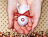 Seedball Gastgeschenk mit Herz, Erdbeer