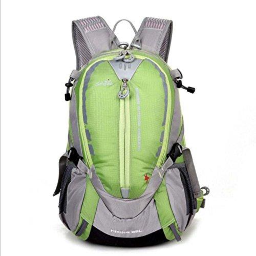 WMHXF Sac à bandoulière en Plein air Alpinisme, imperméable Voyage Alpinisme Sac résistant à l'usure Respirant Ride Camping Hommes et Femmes Sport Sac en Plein air,Green