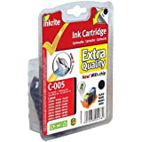 Inkrite Printer Ink (With Chip) for Canon iP3300 4200 4300 MP500 510 530- PGI-5BK Black (Dolphin)