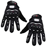 #7: Kurtzy Riders Motor Gloves Full Finger for Sports Bike Cycle Men Women Touch Screen Hand Grip Protector for Adults 1 Pair