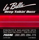 Labella 760N Jeu de Cordes en nylon pour Basse 60/110 Flat Wound Noir