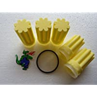 5 Filter Filtereinsatz Ölfilter Heizung Siku gelb 50 µm Dichtung Brenner sternförmig + Dichtung