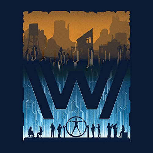 Westworld Over And Under Men's Vest Navy Blue