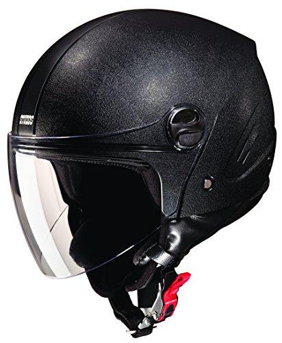 Studds Track SUS_TPOFH_BLKL Open Face Helmet (Plain Black, L)