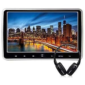 WZMIRAI 10,1 Zoll High-Definition-TFT-LCD-Digital-Bildschirm Auto Portable Ultra Thin Headrest Multimedia-DVD-Player Mobile Kopfstütze Monitor mit HDMI-Anschluss und Fernbedienung