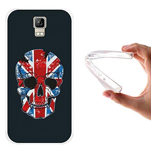 WoowCase Umi Rome Hülle, Handyhülle Silikon für [ Umi Rome ] Schädel & Flagge Englands Handytasche Handy Cover Case Schutzhülle Flexible TPU - Transparent
