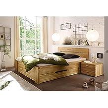 De madera maciza de cama de madera de 160 x 200 cm Cassetta de madera de