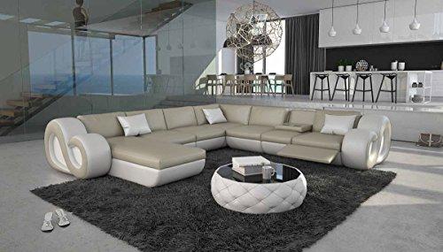 SalesFever Designer XXL Wohnlandschaft Tane 325x350cm