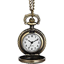 Hiwatch Pocket Watch Vintage Engraved Necklace Watch Mechanical Men Women Watch