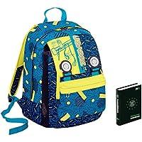 ae6fe5c358 Zaino scuola SEVEN + DIARIO - Swag Boy - Blu Giallo - estensibile - VARIANT  SYSTEM