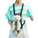 Tiaobug Hundetasche Rucksack Hundetragetaschen Hunderucksack Rucksack Pet Carrier für kleine Hunde und Katzen S M L XL (S(0-2.5KG), Mehrfarbig)