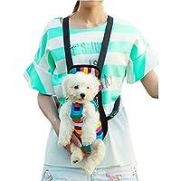 Tiaobug Hundetasche Rucksack Hundetragetaschen Hunderucksack Rucksack Pet Carrier für kleine Hunde und Katzen S M L XL (XL(5.5-9.0KG), Mehrfarbig)